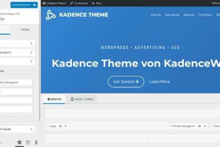 Das Kadence Theme: Vorstellung und Erfahrungen