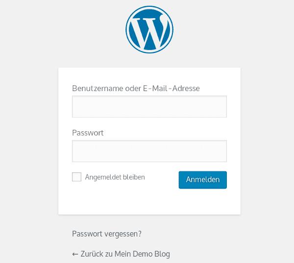WordPress Login Seite