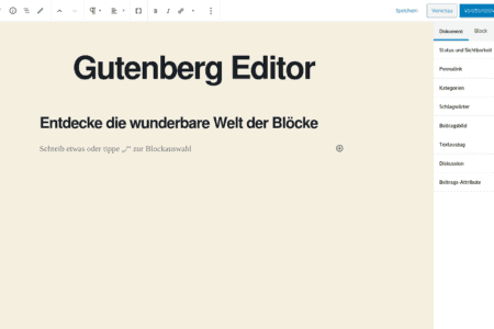 Ultimative Anleitung für den WordPress Gutenberg Editor
